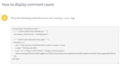 Cara Menampilkan Jumlah Komentar Disqus Di Blog
