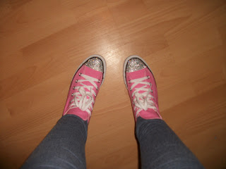 Pink Crystalised Converse