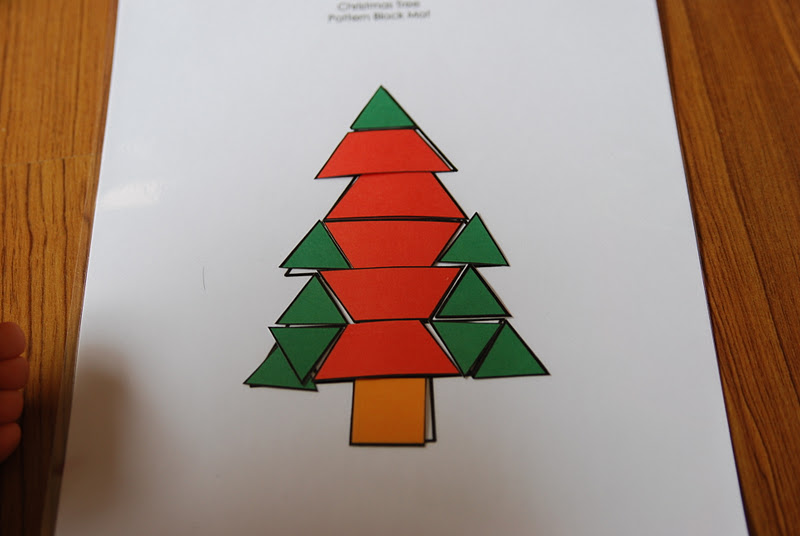 christmas tree tangram from pre kinders as well