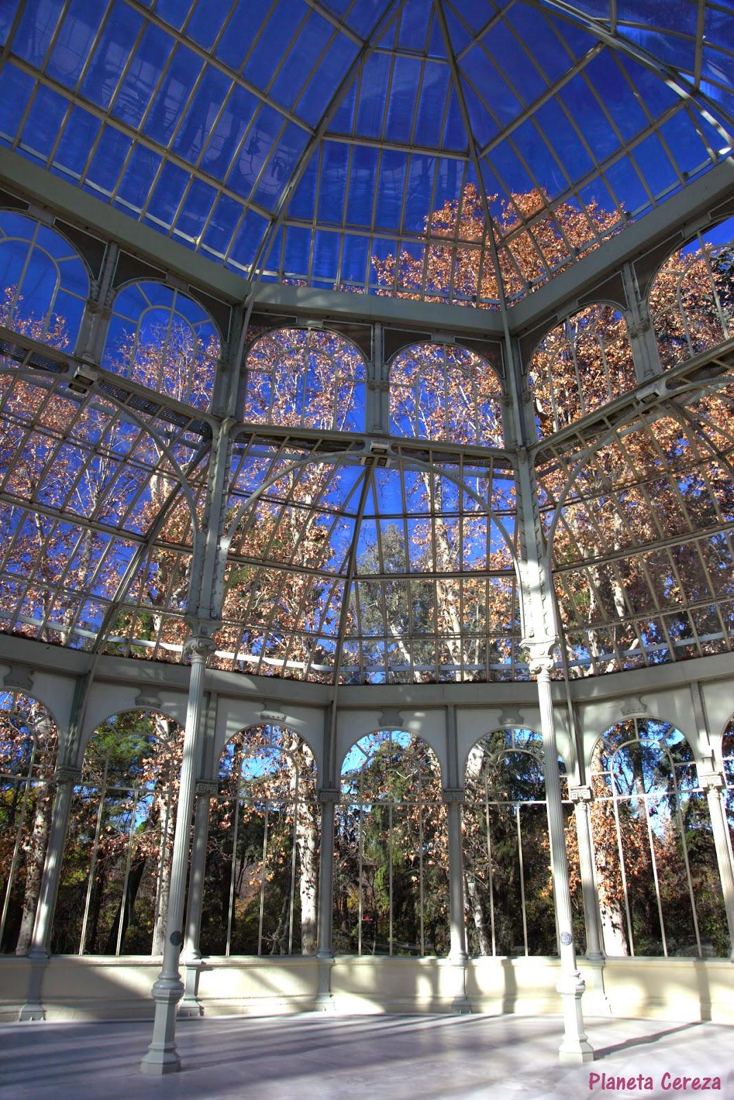 Planeta cereza rincones el palacio de cristal de madrid - Invernadero de cristal ...