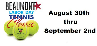 If you are a fan of tennis, register for the labor day tennis tournament in Beaumont now. The event is taking place from August 30 to September 2.