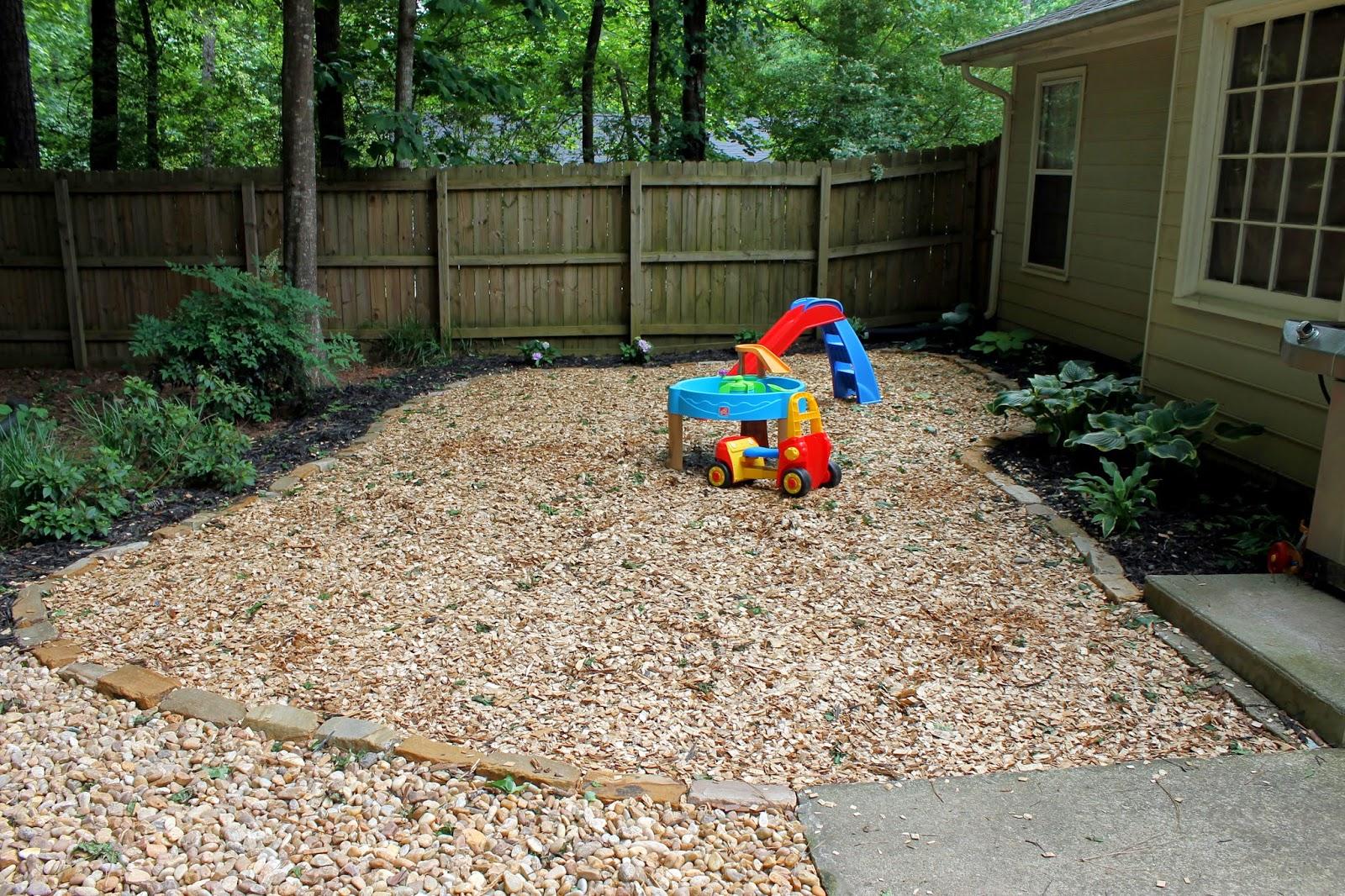 a peachtree city life backyard part iii rocks and it u0027s done