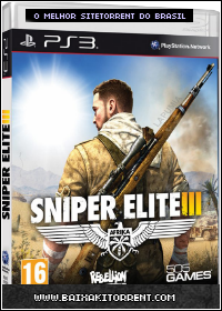 Capa Sniper Elite III PS3 Torrent (2014) Baixaki Download