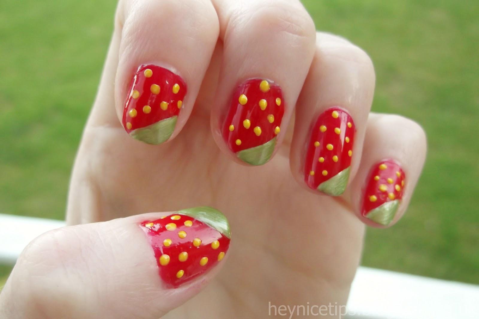Nail Arts Strawberry Nail Art Designs