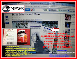 ABC News dated 16th Oct2014 'Biotropics Malaysia Berhad 'Clinical Evidence'Andrologia TONGKAT ALI
