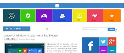 Hasil akhir perubahan widget pages