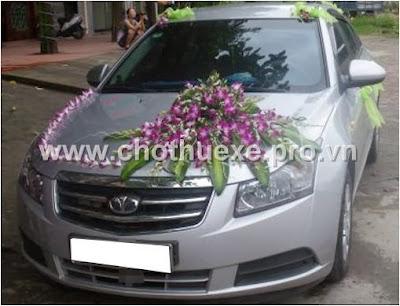 Mẫu hoa xe cưới đẹp XH 078