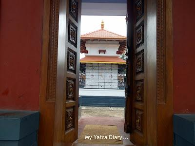 A backdoor glimpse of Shree Krishna temple in Kannur, Kerala