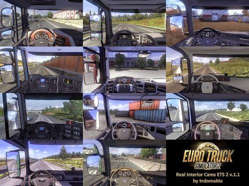 ETS2 Mod - Câmeras Reais Para Todos os Caminhões V.1.3.5 Para V.1.26.X By: Indomable