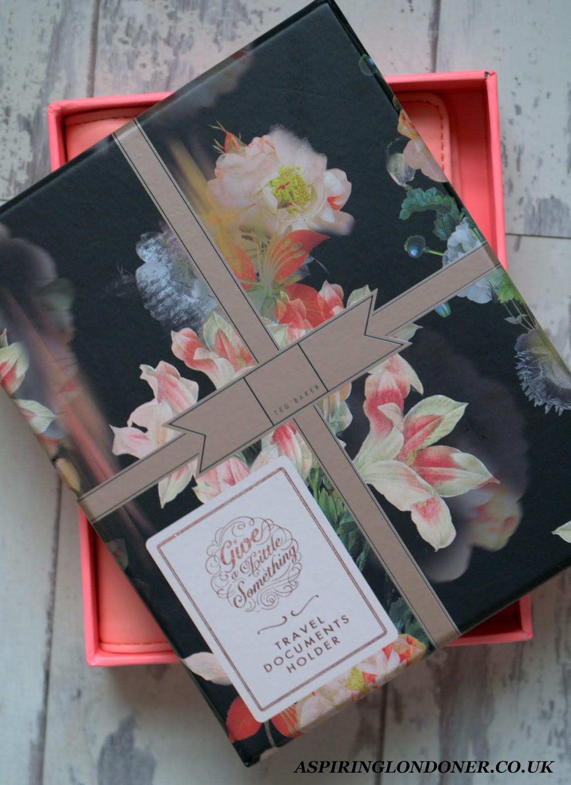 Christmas Gift Guide For Her Ted Baker Travel Document Holder Amara - Aspiring Londoner