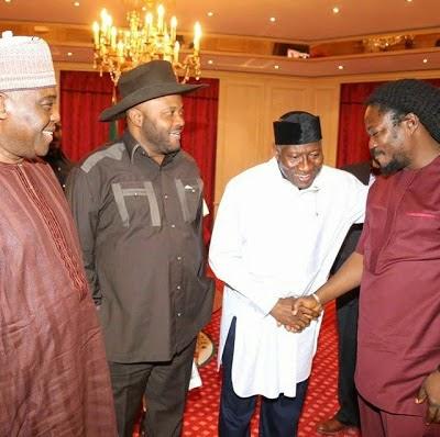 Daddy Showkey, Dan Iwuanyanwu, High Chief Raymond Dokpesi President Goodluck Jonathan