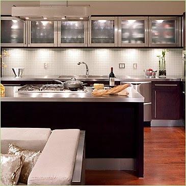 encimera acero cocina