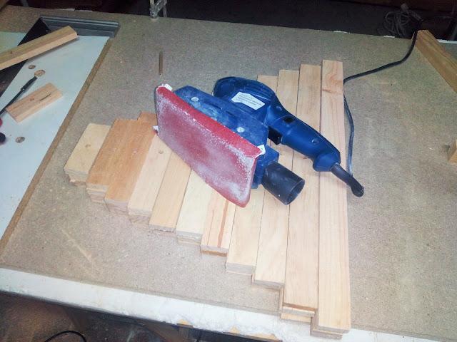 Arbol de madera paso a paso lijado