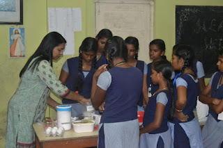 teach baking to orphan girls