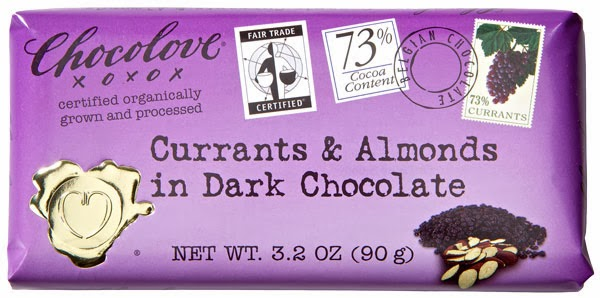 Chocolove Currants & Almonds in Dark Chocolate bar