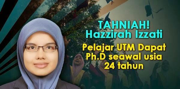 Gadis Paling Muda Dapat PHD Dari Malaysia