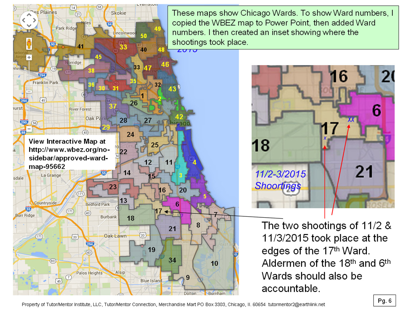 Tutor Mentor Institute LLC Using Maps In Longterm Violence - Chicago map by county