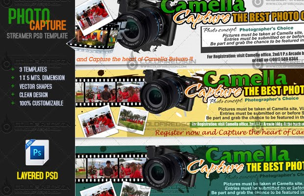 Photo Capture Streamer PSD Template