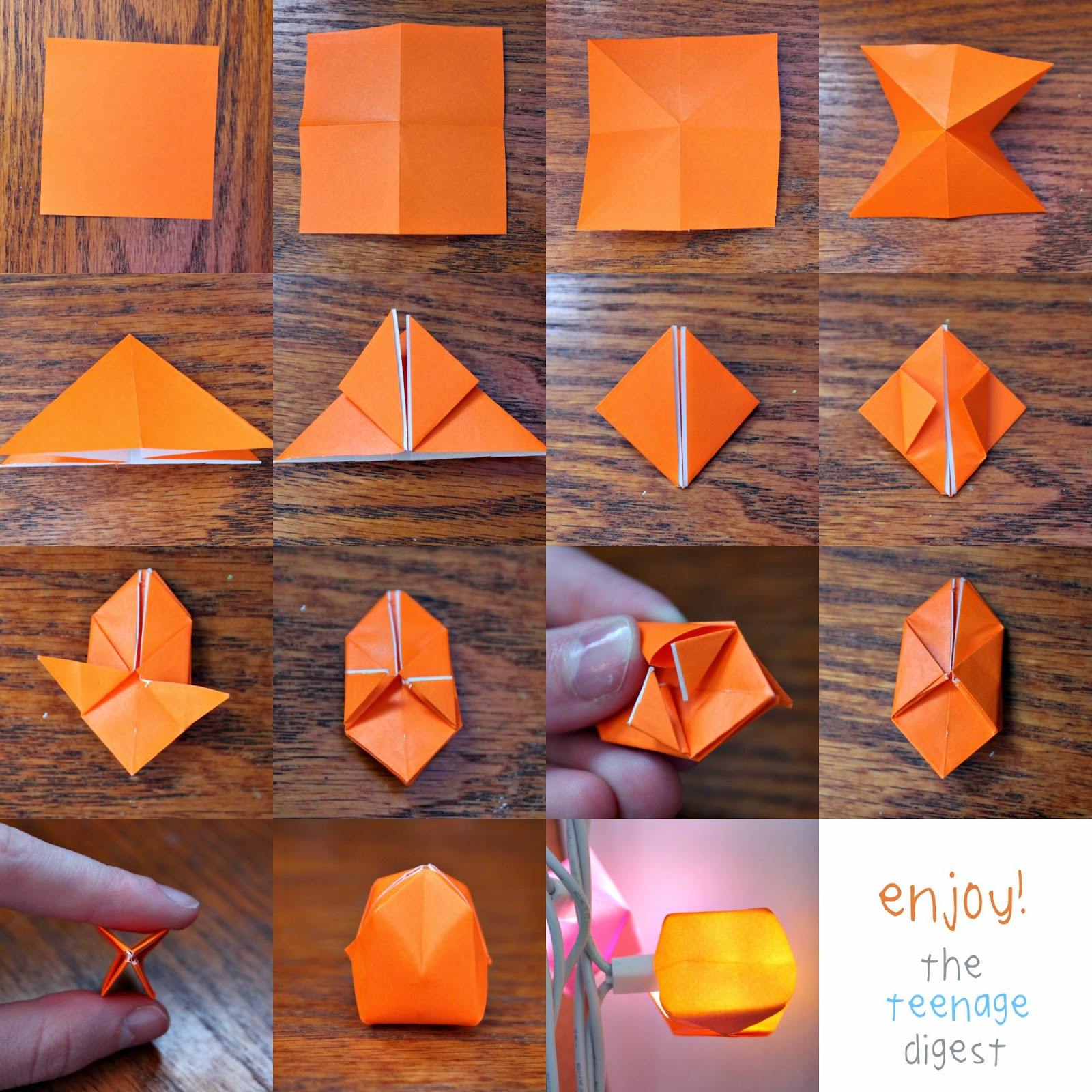 Start With A Square Of Colored Paper I Used 1 4 Piece Origami 2 Fold It In Half Vertically And Horizontally Make Sure To Keep The