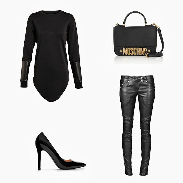 MOSCHINO bag, Balmain leather pants, PYER MOSS shirt, Zara heels, zara pointy heels, 2013 fashion trends, autumn zara looks