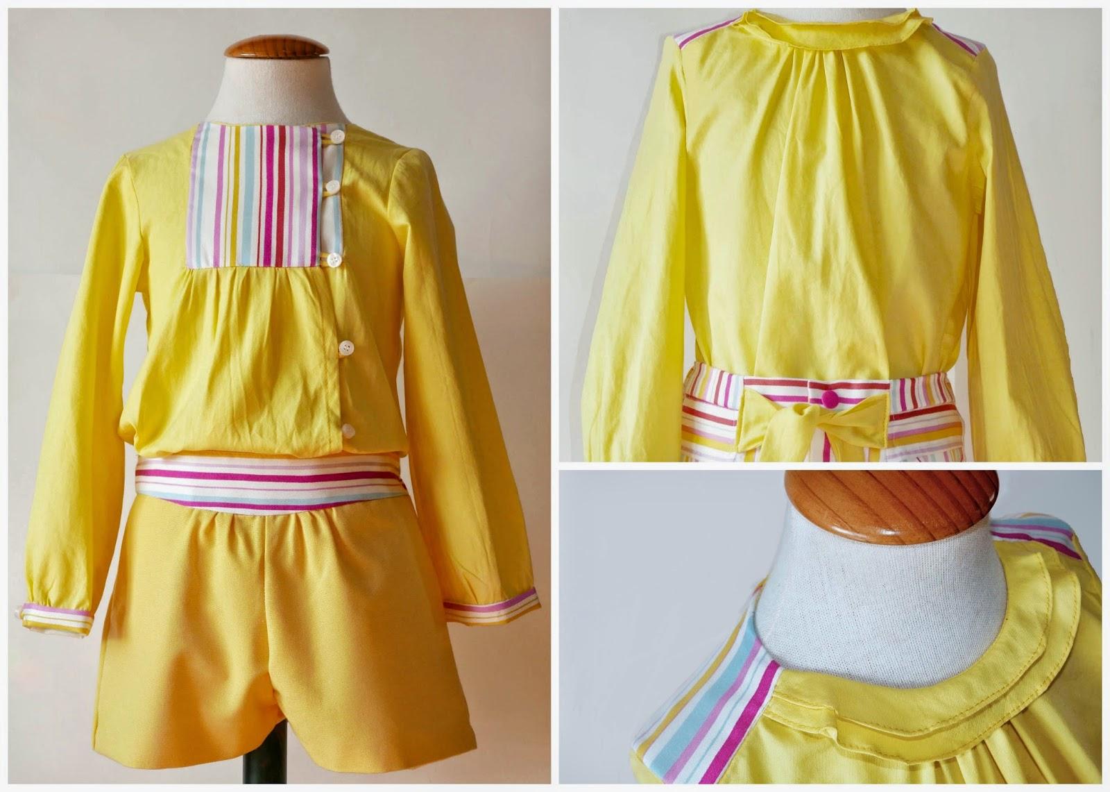 El amarillo un color de moda también para los niños