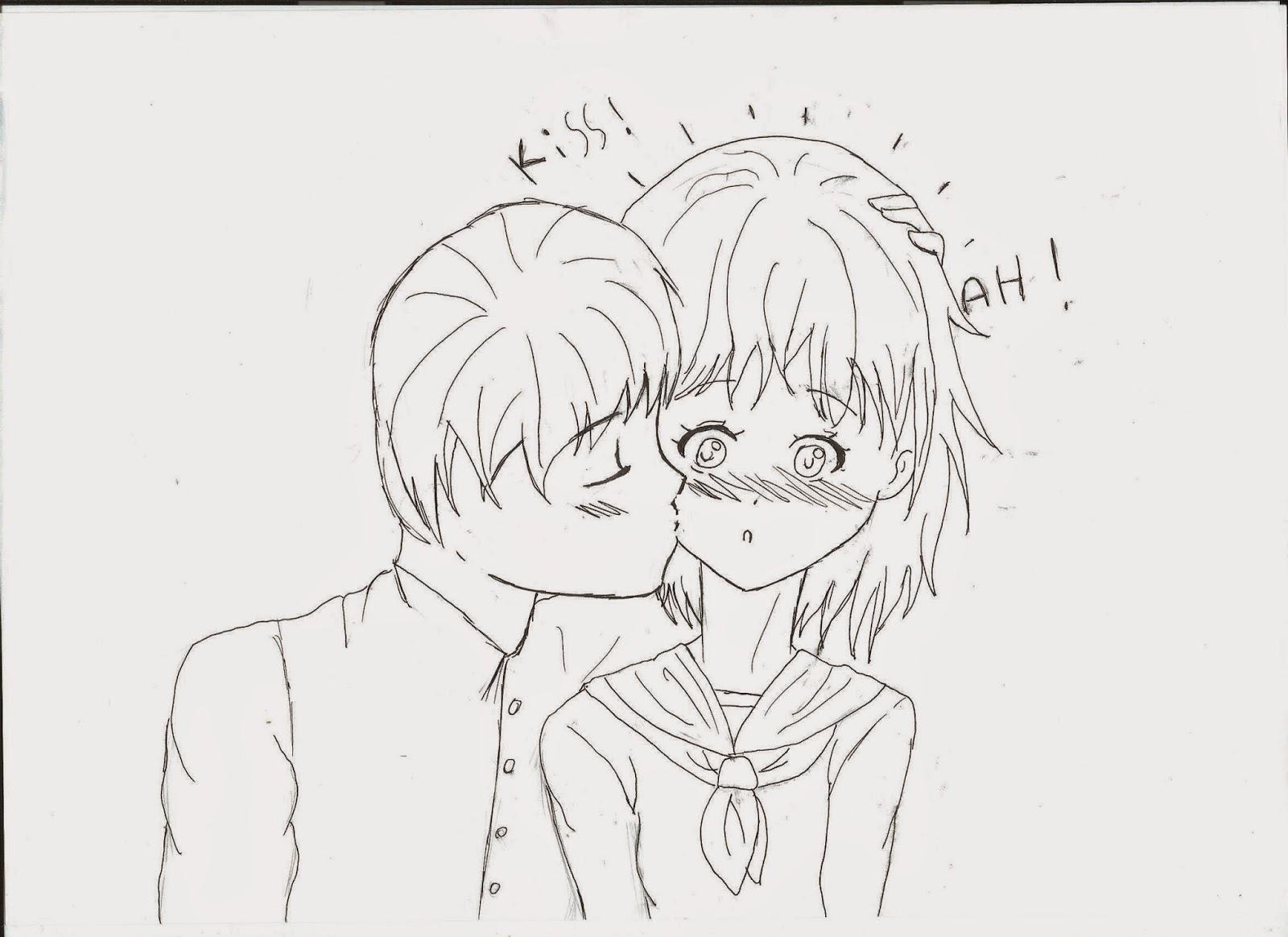 Dessin De Bisous dessin mangas: dessin 58 :bisous !