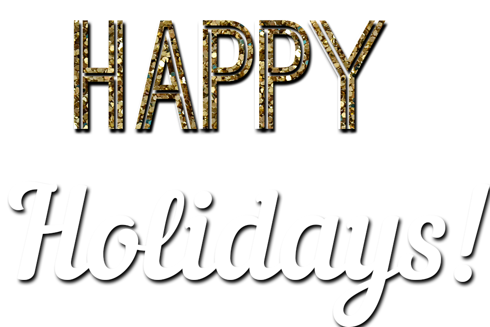 Happy Holidays Glitter Text