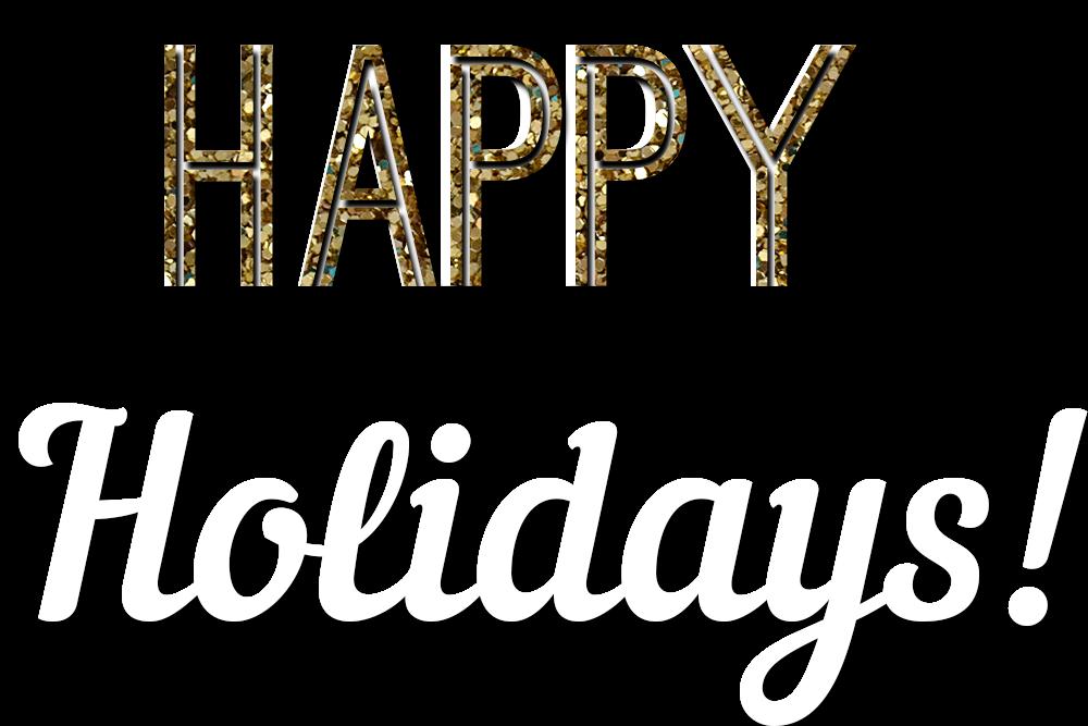 Happy Holidays Glitter Text
