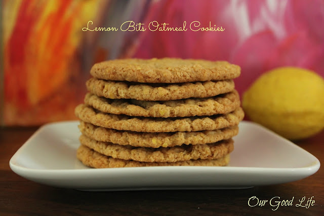lemon bits oatmeal cookie