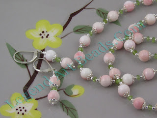Blush Pink Conch Bead Necklace