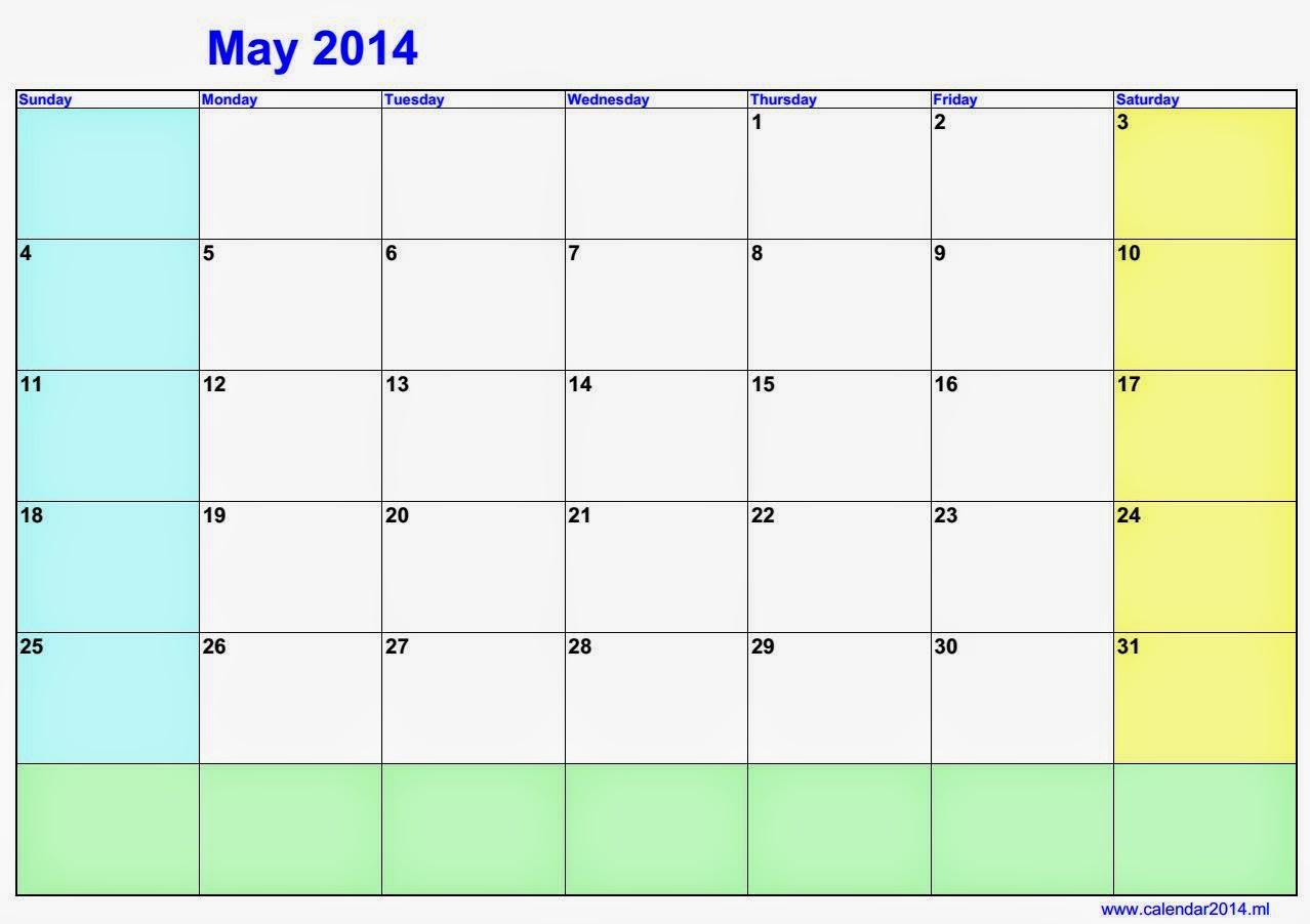 رزنامة 2014 بالعربي شهر ماي | Kalender 2016