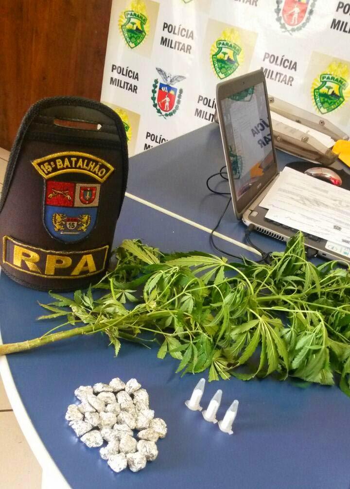 apreensão de drogas em Rolândia, rua Maringá