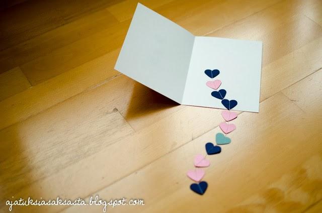 DIY ystävänpäiväkortti, DIY valentine's day card