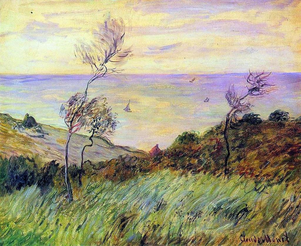 Falaise de Varengeville, coup de vent (1882)