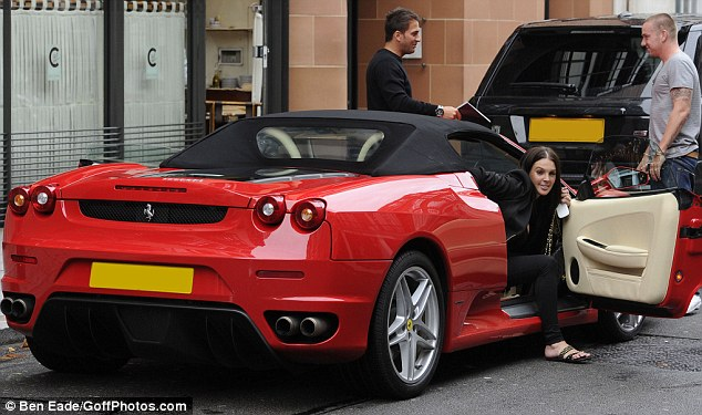 photo of Danielle Lloyd Ferrari F430 - car