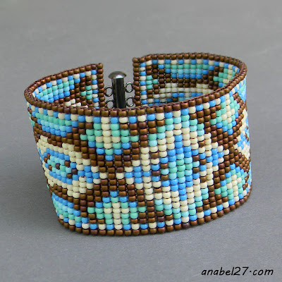 Украшения от Anabel - бисерный браслет с орнаментом