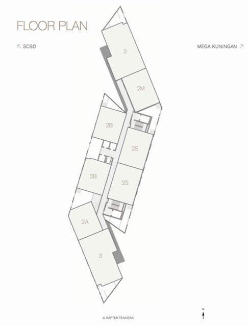 Floor Plan Apartemen Arzuria Jakarta