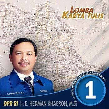 Lomba Karya Tulis Untuk Cirebon/Indramayu dan Herman Khaeron
