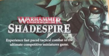 The Ultimate Competitive Miniatures Game: Shadespire Flier from GenCon: