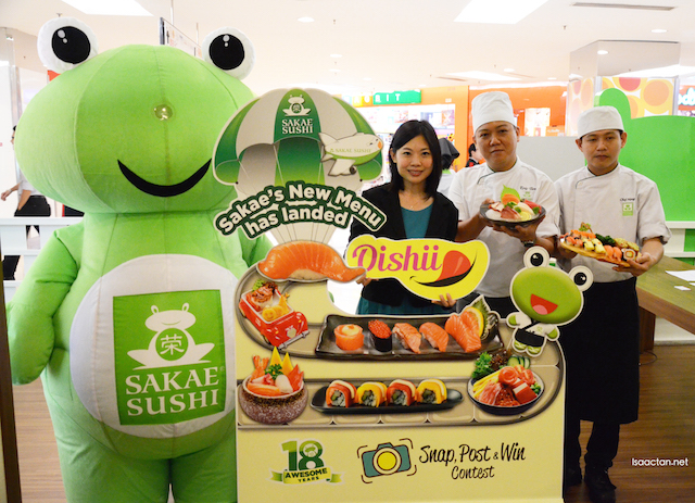 And it's launched, Sakae Sushi's New menu
