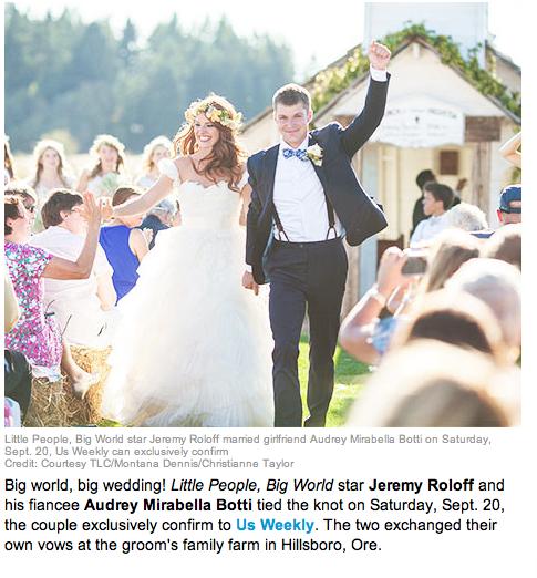 Jeremy Roloff Wedding: Exposarazzi: Little People Big World: Jeremy Roloff Weds
