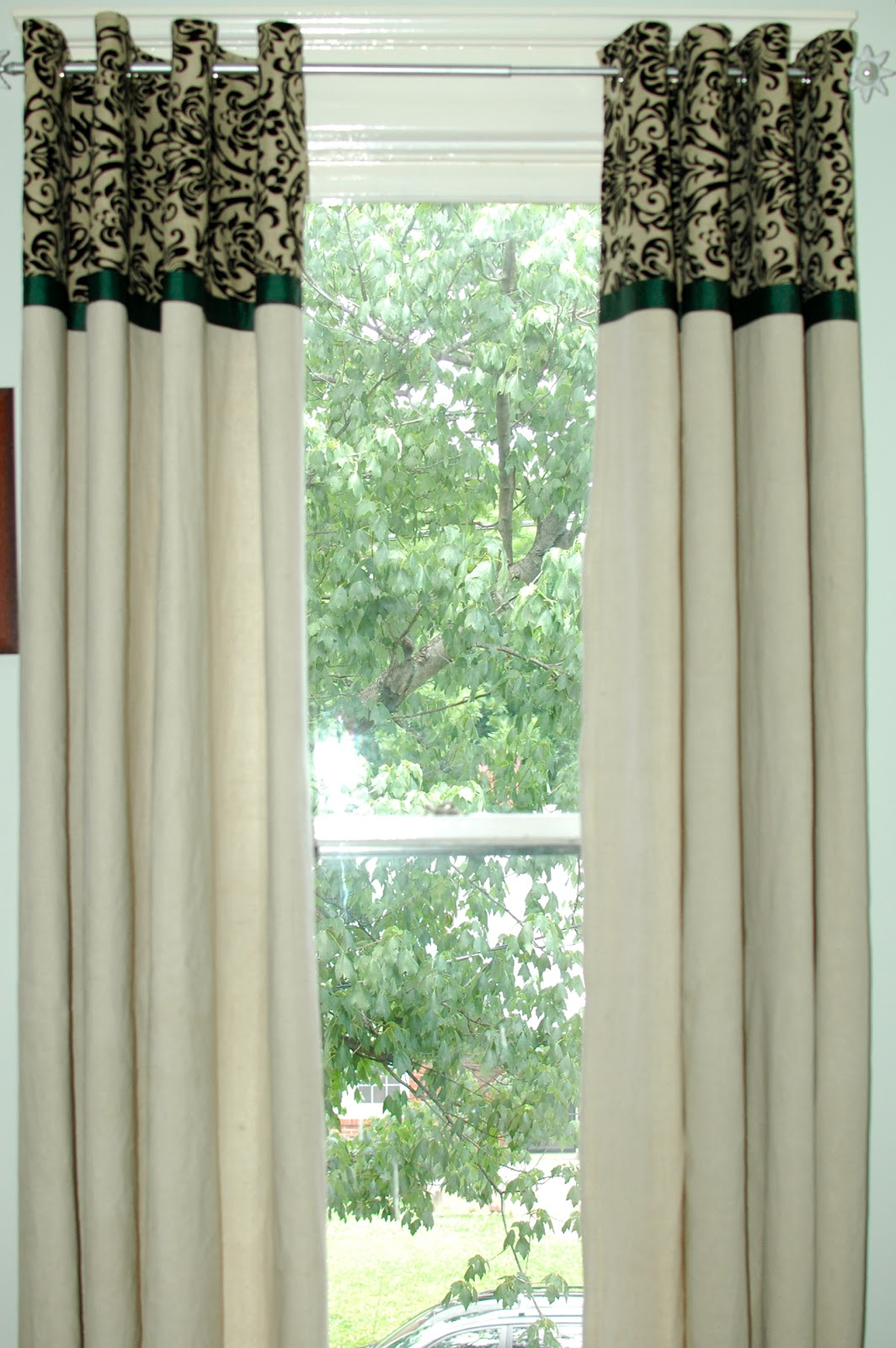 Navy Blue Tab Curtains
