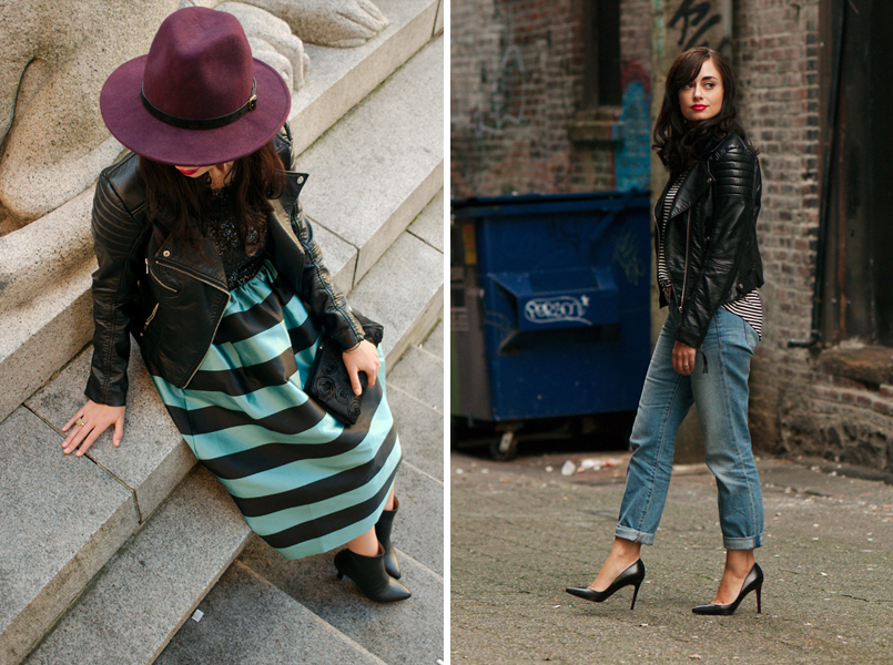 coco and vera, top vancouver style blog, one jacket ten ways, remix, restyle, H&M jacket