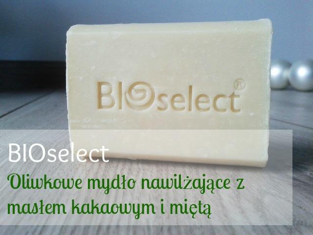 Oliwkowe mydło nawilżające z masłem kakaowym i miętą BIOselect.