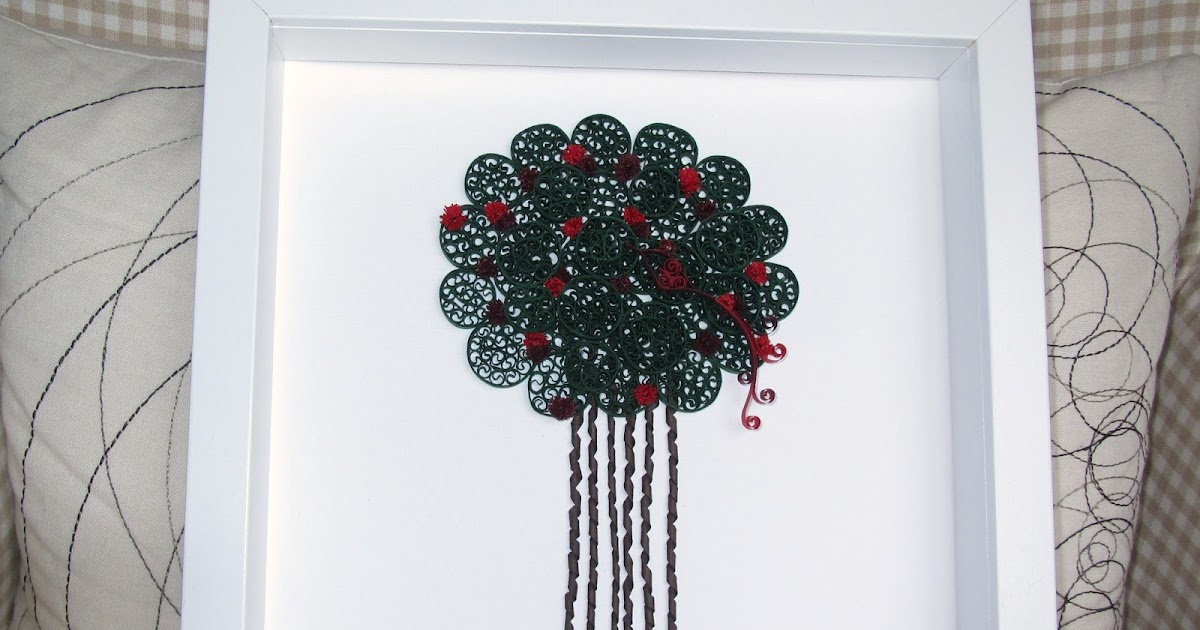 Quilled Tree and a Bird