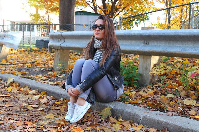 monochromatic look, Monochromatic outfit, how to wear gray colour, leather jacket fall outfit, kozna jakna, sta obuci za jesen, mixing textures, zara leather jacket, canadian fashion blogger, toronto fashion blogger