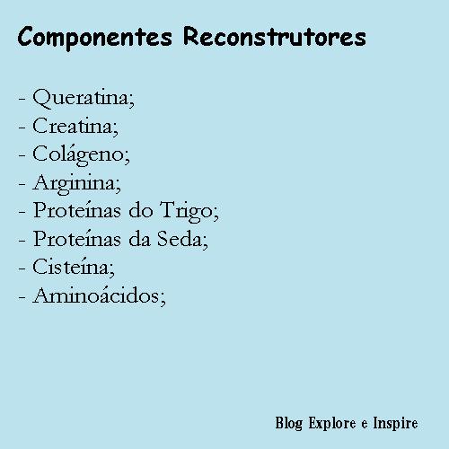 Reconstrução capilar componentes