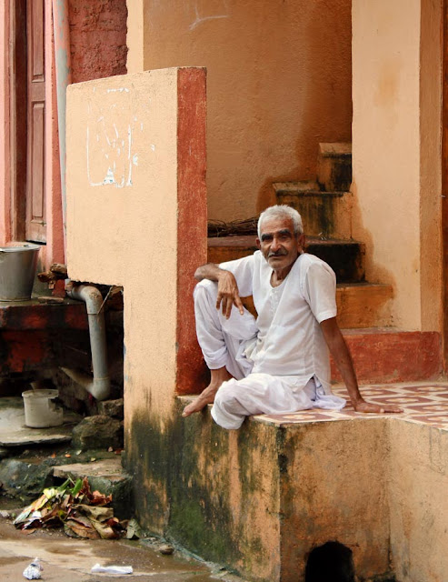 old man with dhoti