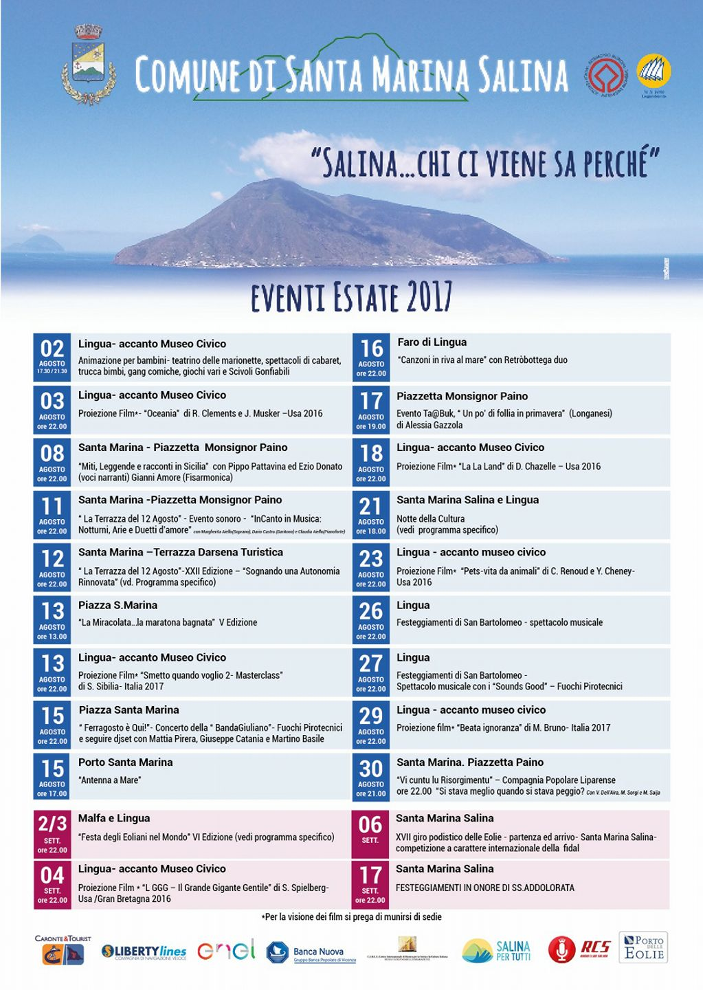 EVENTI ESTATE 2017 - SALINA