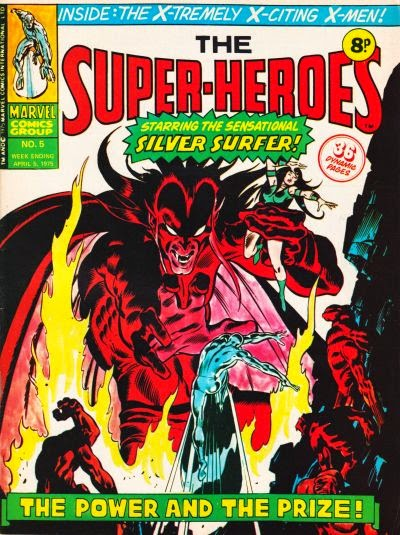 Marvel UK, the Super-Heroes #5, Silver Surfer vs Mephisto